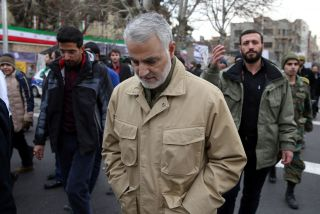 Quds Force commander Gen. Qassem Suleimani attends a celebration marking the 37th anniversary of the Islamic Revolution on Feb. 11, 2016 in Tehran.
