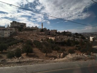 The road from Ramallah to Bethlehem.