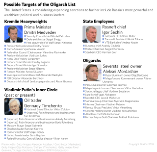 Possible Targets of the Oligarch List