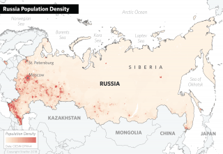 Russia's Population Density