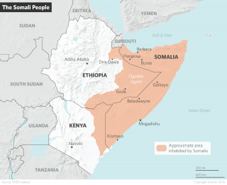Somalis inhabit areas beyond the Somalian border