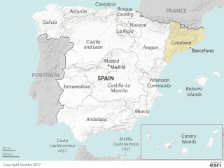 This map shows the regions that constitute Spain