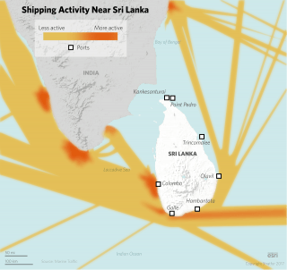 Despite its small size, Sri Lanka holds substantial strategic value by virtue of its geographic position: It is at the center of Asia's busiest maritime routes and has a wealth of natural deep harbors.