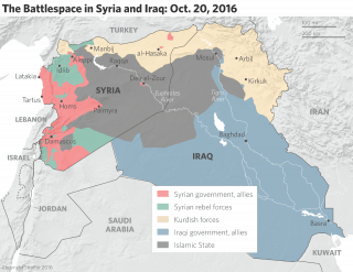 The Battlespace in Syria and Iraq, Oct. 30, 2016