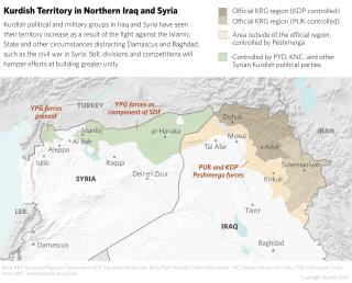 In Syria and Iraq, the Kurds have increased their territory.