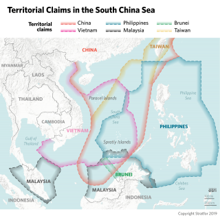 This map shows territorial claims in the South China Sea.