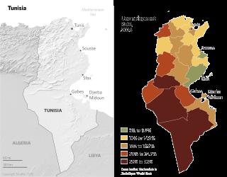 Tunisia Unemployment Rate, 2016