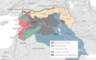 U.S. forces in the Kobani and al-Hasaka cantons were recently deployed along the Turkey-Syria border to buffer between battling Turkish armed forces and Kurdish People's Protection Units (YPG). It appears Russia is planning similar measures in the Afrin canton, in effect blocking Turkey from pursuing its campaign against its Kurdish foes in Syria.