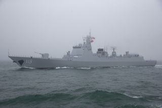 Rapidly becoming the workhorse destroyer of the Chinese Navy, the Type 052D (pictured) builds upon the success of the Type 052C design with the addition of a flexible vertical launch system of 64 cells, capable of launching a variety of weapons including anti-submarine munitions, anti-ship missiles and long-range anti-air interceptors.