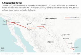 It Will Take More Than A Wall To Solve Border Crime Stratfor - Us border fence map