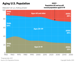 This chart shows the changing demographic profile of the United States