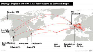 Strategic Deployment of U.S. Air Force Assets to Eastern Europe