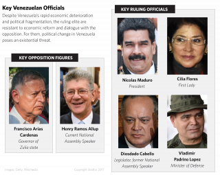 As Venezuela's economy has rapidly deteriorated, the ruling United Socialist Party of Venezuela has split into several factions.