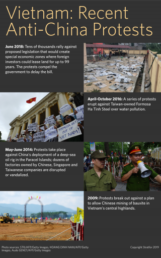 A timeline of recent anti-China protests in Vietnam.