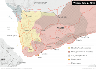Yemen is divided between a number of militant groups and water is a key resource to secure to have leverage over the central government. When Houthi militants made territorial gains, it did not significantly alter the balance of resource control. Fighters from the secessionist Southern Movement control sections of territory along the southern coast, where aquifers are not overexploited.